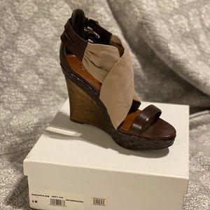 New Halogen wedge sandals